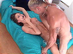 couple, pornstar, big cock, masturbation, gagging, milf, brunette, blowjob, deepthroat, anal sex, shaved