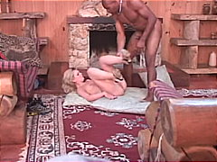 Blond girl loves it both holey and black