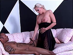 See: Blonde meets black cock