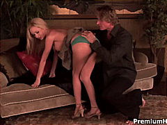 Red Tube - Dirty talking blonde having a ride