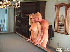 Couple at the pool table video