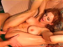 redhead, cream pie, shaved, couple,