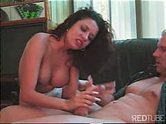 big tits, shaved, blowjob, couple,