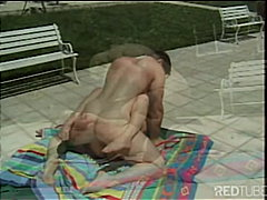 outdoor, couple, blonde, blowjob,