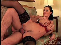 Redtube Movie:Busty cute raven diva nailed