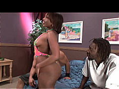 Double penetrated ebon... video