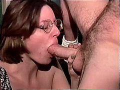 caucasian, cum shot, brunette, blowjob, office, couple