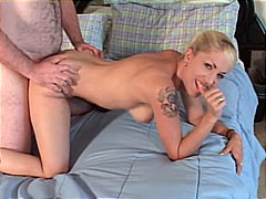 handjob, blowjob, blonde, couple,