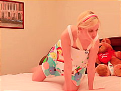 teen, shaved, blonde, masturbation,