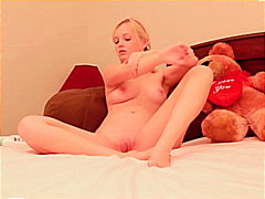 teen, masturbation, blonde, shaved,