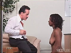 domination, blowjob, shaved, ebony,