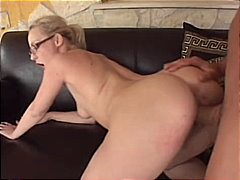 Blonde fucked on the c...