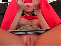 Blonde gets creampied