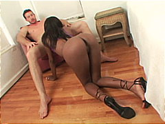 interracial, ebony, cum shot, blowjob