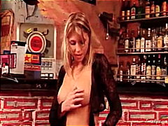 Thumb: Gina naked in the bar 1