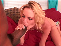 interracial, ebony, cum shot, blonde