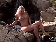 Redtube Movie:Blond pornochick at the waterfall