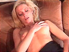 Redtube Movie:Blonde beauty on couch