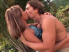 Redtube Movie:Vaginal surprise in the garden