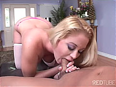 pov, blonde, stockings, blowjob,
