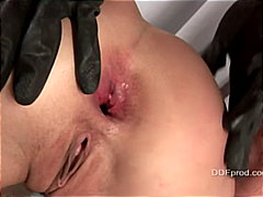 anal sex, bondage, brunette, couple,