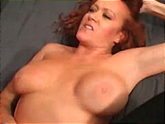 redhead, stockings, masturbation,