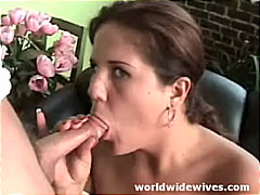 couple, blowjob, brunette, shaved,