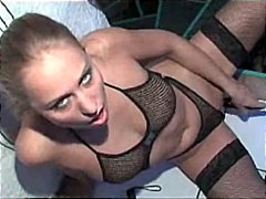 shaved, solo girl, stockings
