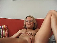 See: Young blonde on couch