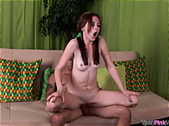 shaved, brunette, blowjob, couple,