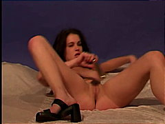 Redtube - Young brunette masturb...