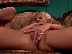 masturbation, stockings, blonde