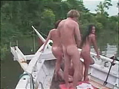 Women enjoying sex boattrip