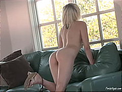 Brea Bennett alone on the couch