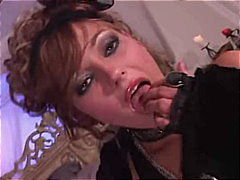 Horny Venus plays with her big dildo