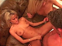 blonde, threesome, shaved,