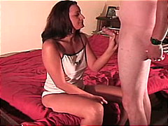 couple, cream pie, shaved, blowjob, caucasian