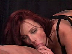 pornstar, blowjob, stockings, swallow