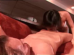blowjob, couple, brunette,