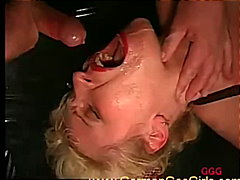 facial, group, bukkake, german, facials, glasses, euro, cumshot, gangbang, orgy, milf