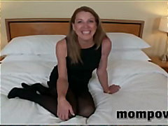 Old housewife sucking my young cock