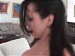 angelica sin,  brunette, facial,