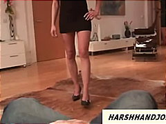 Sexy British mistress jordan gives cb...