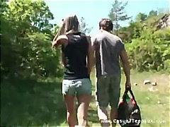creampie, outdoors, skinny, blowjob,