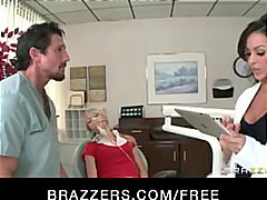 Hot Dr. Benson, a nympho dentist, fucks her assistant & his fianc