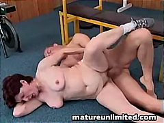 Mature gets pounded raw