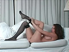 milf, striptease, busty, pussy, lingerie, big-tits, shaved, nylons, pantyhose, masturbation