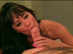 Sexy Asian Gets Cummed On