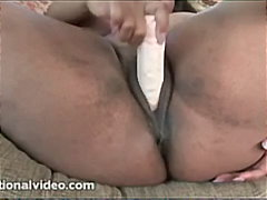 ebony, big-tits, ladies, dildo