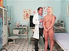 euro, medical, blond, bizarre, gyno
